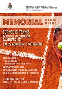 MEMORIAL ALDO BLINI - TORNEO DI TENNIS
